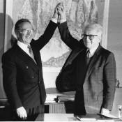 Beograd<br /><br /> Milan Panic,premijer i Dobrica Cosic,predsednik SRJ.<br /><br /> SIV<br /><br /> 24.10.1992.