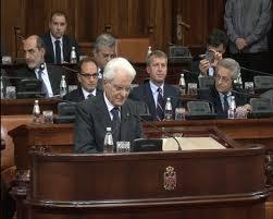 PREDSEDNIK ITALIJE SERĐO MATARELA GOVORIO NA VANREDNOJ SEDNICI SKUPŠTINE SRBIJE
