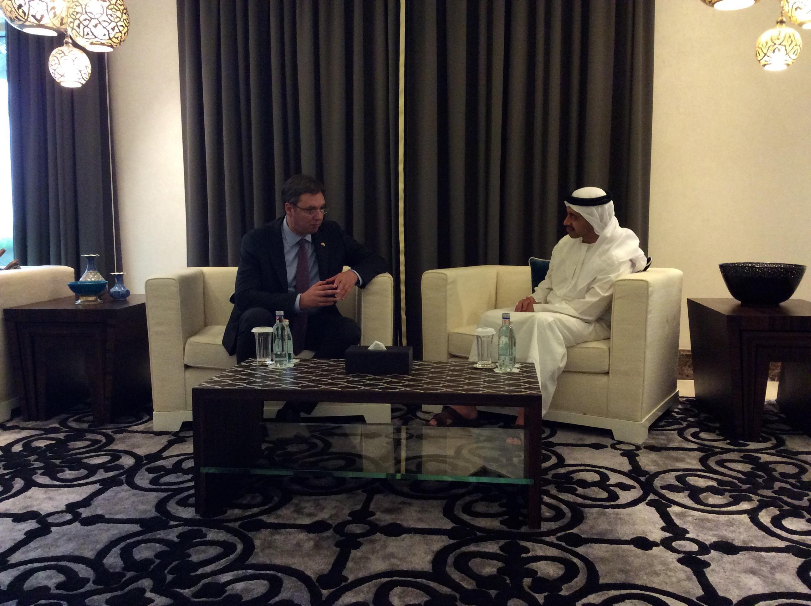 Aleksandar Vučić sastao se danas sa princom prestolonaslednikom Abu Dabija šeikom Muhamedom Bin Zajedom Al Nahjanom