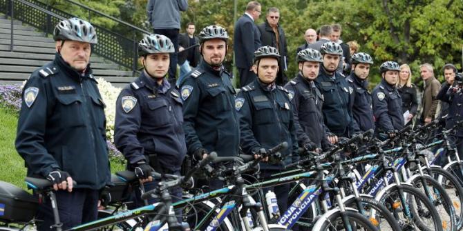 Zagrebački policajci na biciklima!