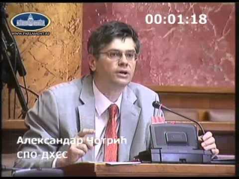 Poslanička pitanja: Aleksandar Čotrić, tražio je da se obeleže masovne grobnice nastale posle Drugog svetskog rata