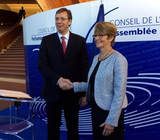 Vučić danas boravi u jednodnevnoj poseti Strazburu