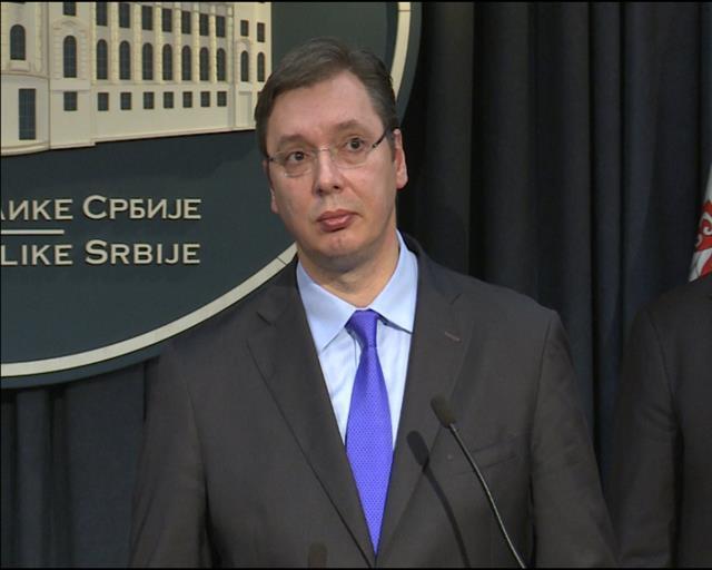 Konferencija za medije Vučića i Dačića povodom odluke Uneska da ne primi Kosovo