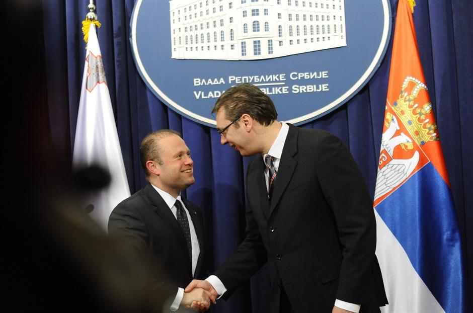 Konferencija za medije premijera Srbije i Malte