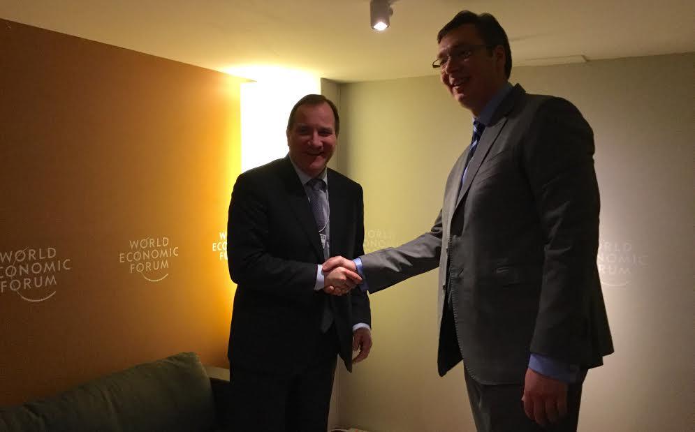 Davos: Razgovarali Vučić i švedski premijer Loven