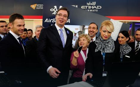 Sajam turizma: Vučić kupio prve karte za let Er Srbija u SAD