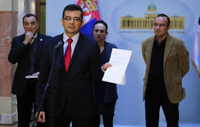 Konfererncija za medije poslanika Pavićevića, Živkovića i Veselinovića
