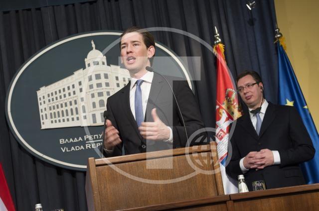 Konferencija za medije Aleksandra Vučića i Sebastijana Kurca