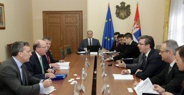 Vučić se sastao sa prvim potpredsednikom EBRD-da Filom Benetom.