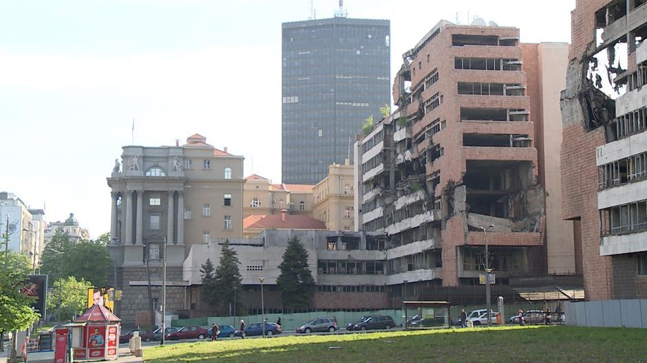 Bombardovana zgrada Generalštaba ne zrači