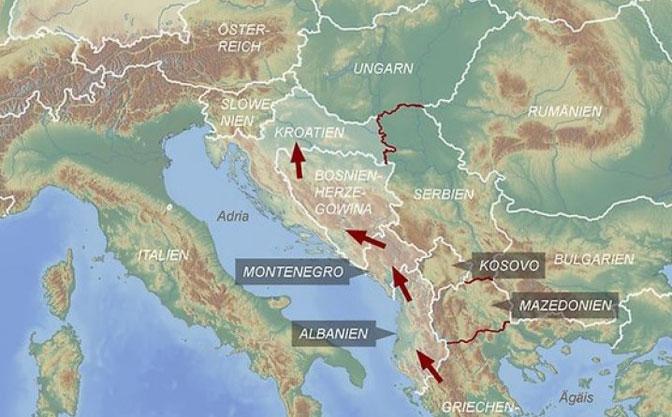 Nova ruta: Izbeglice s Bliskog istoka ići će preko Albanije i Crne Gore