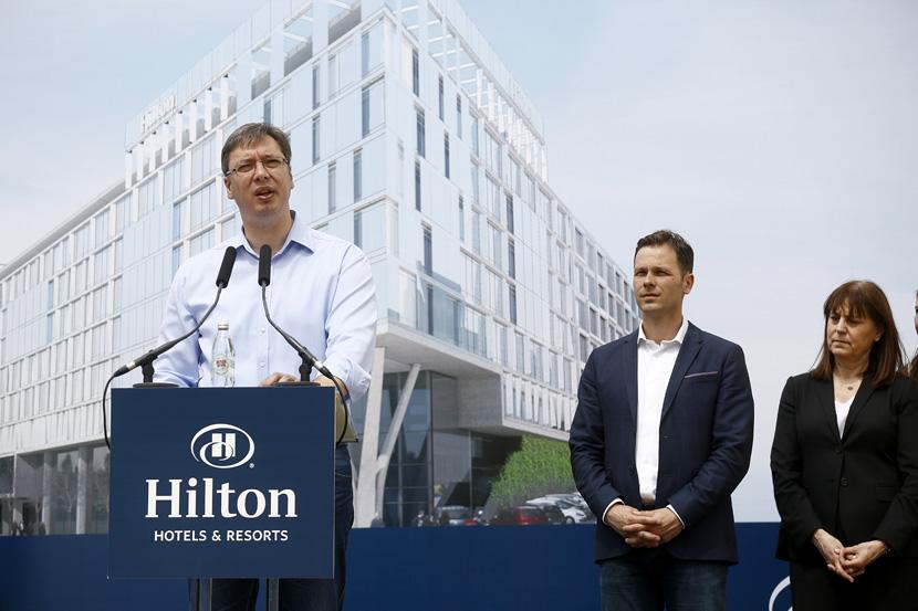 Beograd: danas postavljen kamen temeljac za Hilton hotel