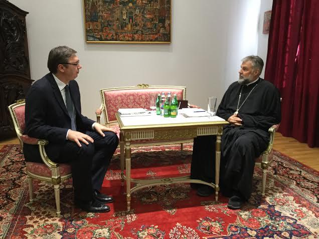 Mostar: Vučić razgovarao sa episkopom Grigorijem