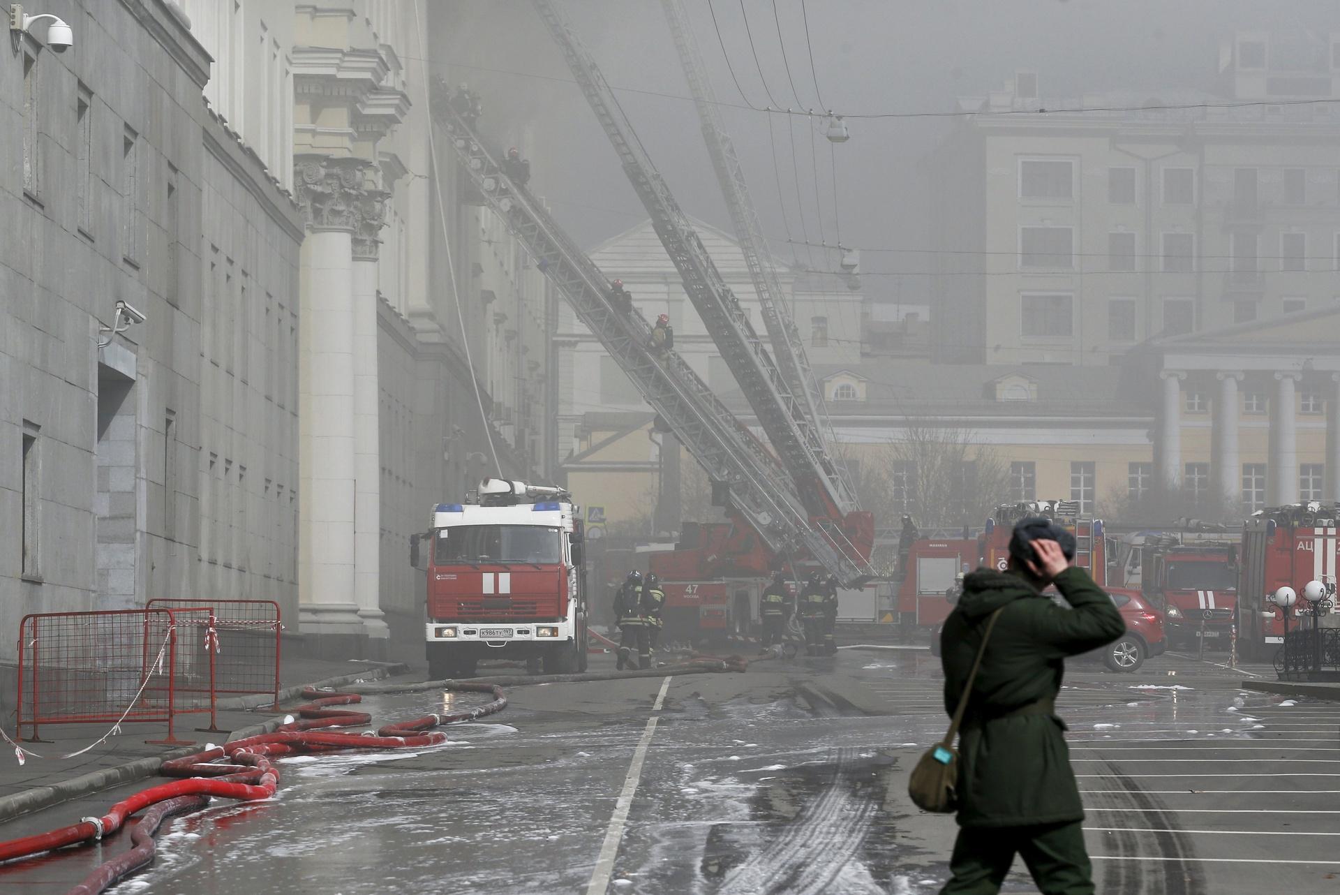 Moskva: Gori zgrada Ministarstva odbrane