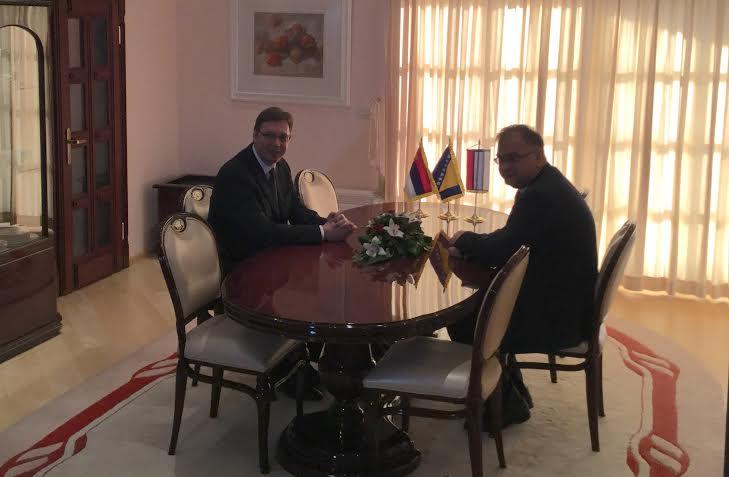 Mostar: Vučić razgovarao sa Ivanićem i Čovićem