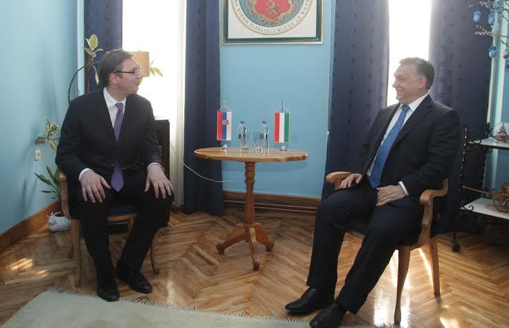 Subotica: razgovarali Vučić i Orban