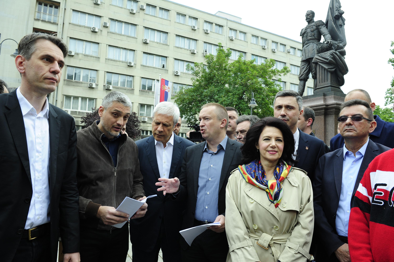 Beograd: Počeo protest opozicije