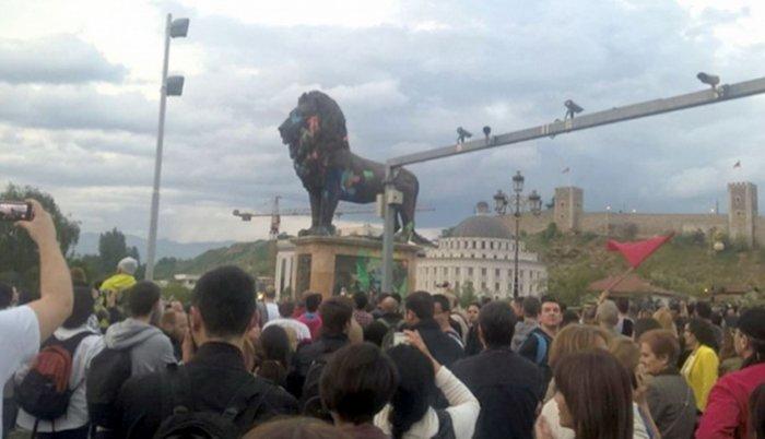 Skopje: protesti u Beču i Londonu