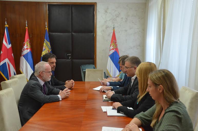 Stefanović razgovarao sa ambasadorom Velike Britanije Kifom