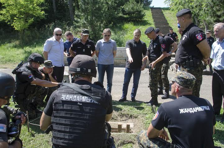 Vežba žandarmerije u Nastavnom centru Kula
