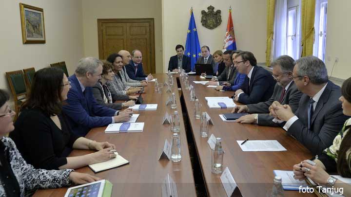 Vučić razgovarao sa predstavnicima SB i MMF
