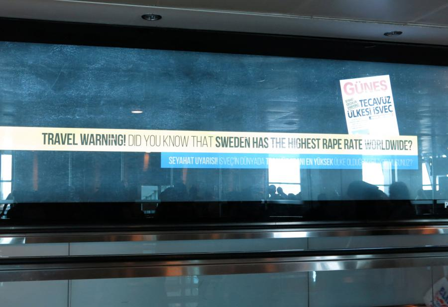 """""""Rat"""" Turske i Švedske reklamnim aerodromskim takama"""