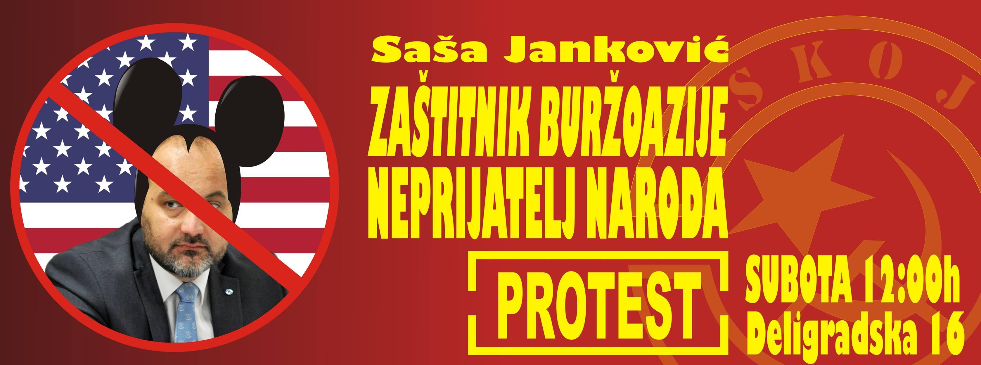 Danas: SKOJ kampuje ispred sedišta Zaštitnika građana