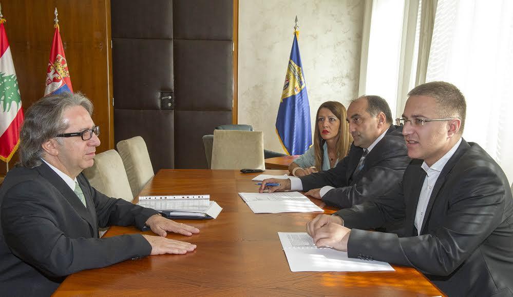 Protokol: Stefanović razgovarao sa ambasadorom Libana Žaberom