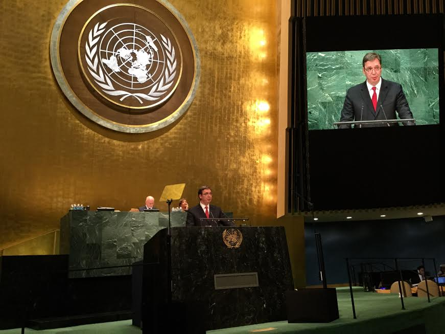 Vučić govorio na Generalnoj skupštini UN