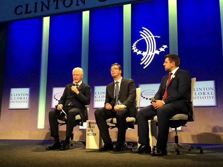 Vučić na plenarnoj sednici Klintonove globalne inicijative