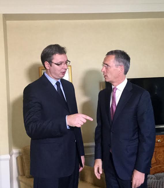 Njujork: Drugi sastanak Vučića i Stoltenberga