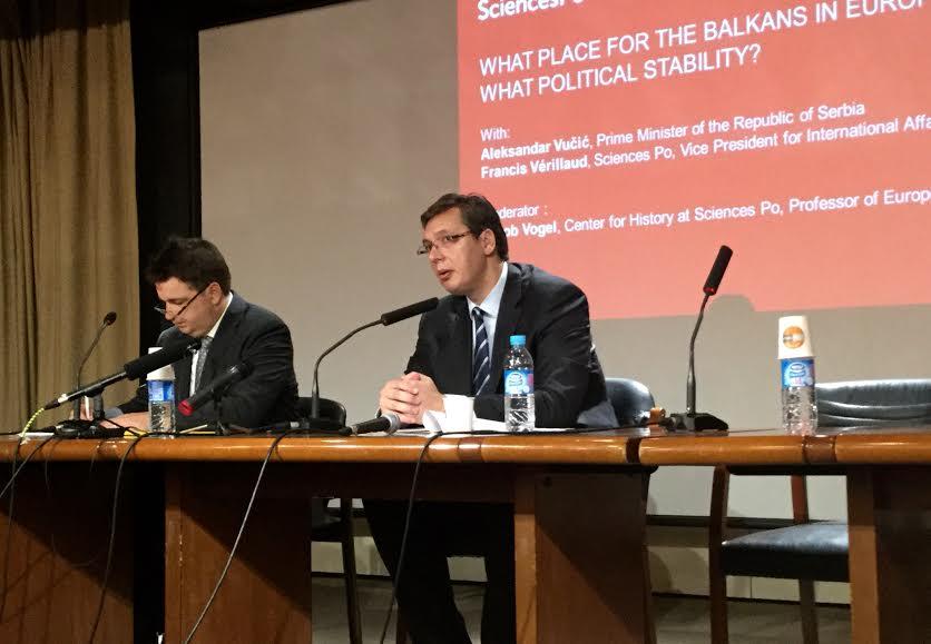 Pariz: Vučić održao predavanje na Fakultetu političkih nauka Sciences Po
