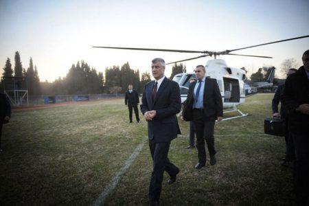 """POVEZANO Ove godine biće podignuta optužnica protiv Tačija Novoizabrani predsednik kosova Hašim Tači izrazio je """"punu podršku"""" za novi tribunal za ratne zločine koji će procesuirati pripadnike gerilske grupe koju je on nekada predvodio"""
