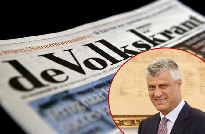 De Volkskrant: Tači, mogući optuženik Specijalnog suda