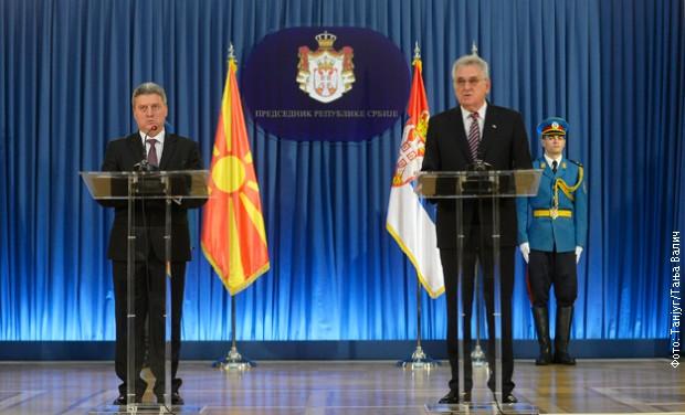 Predsednik Makedonije Ivanov gost Nikolića