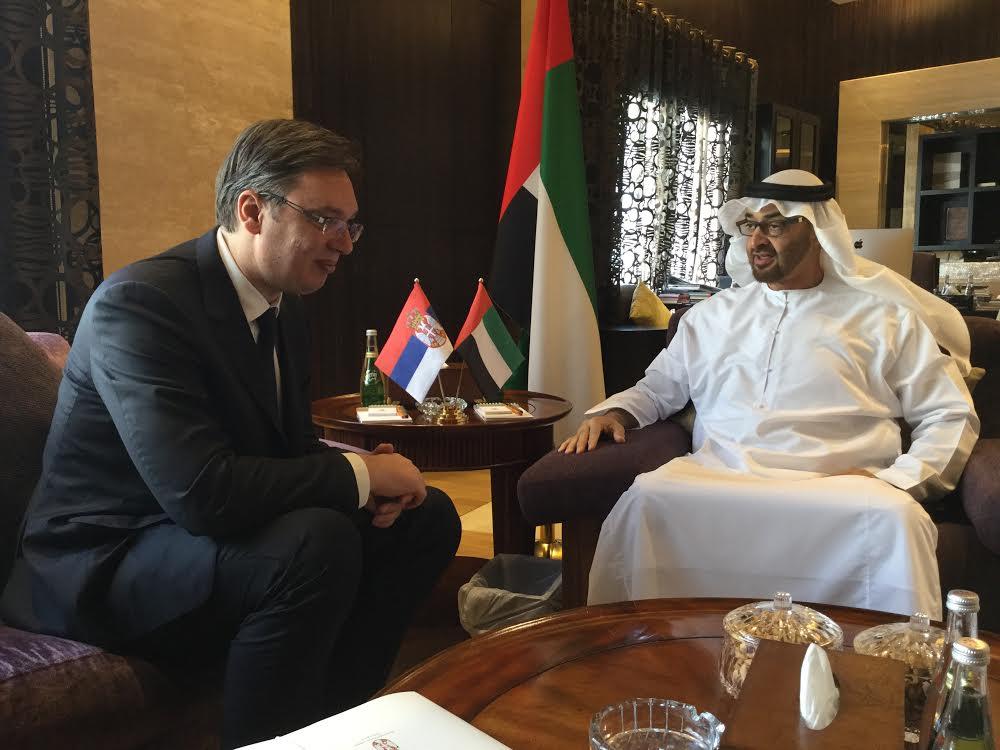 Abu Dabi: Vućić se sastao sa šeikom Mohamedom bin Zajedom