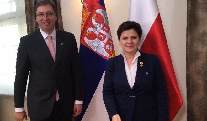 Vučić razgovarao sa premijerkom Poljske