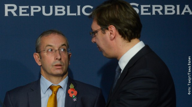 Davenport uručio je Vučiću Izveštaj EK o napretku Srbije