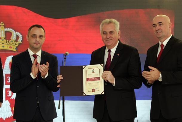 Tomislav Nikolić počasni građanin opštine Knić
