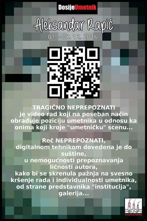 U Galeriji Petak izlaže  Aleksandar Rapić