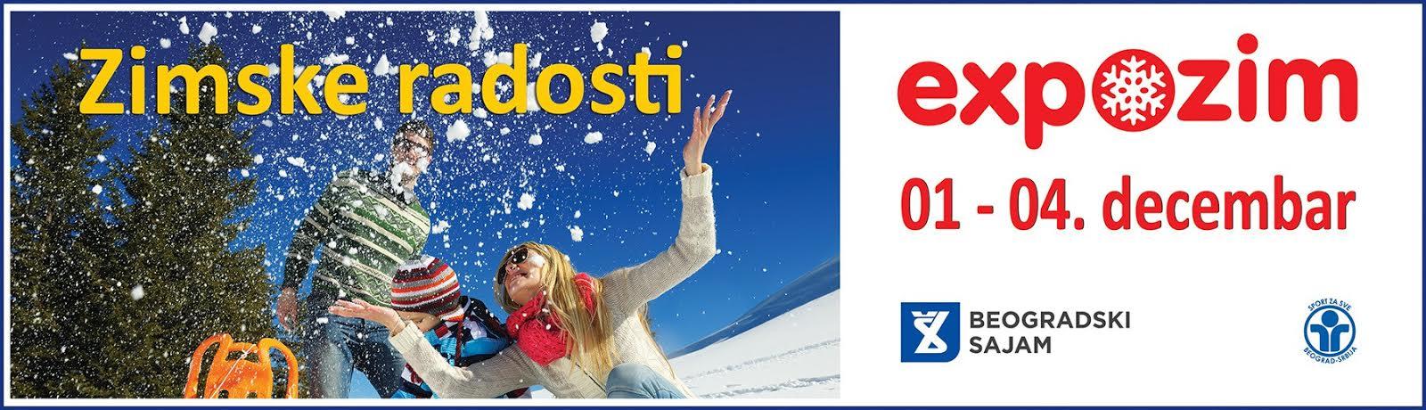 Expo-zim – Međunarodni sajam zimske sportske opreme, turizma i rekreacije od 1. do 4. decembra