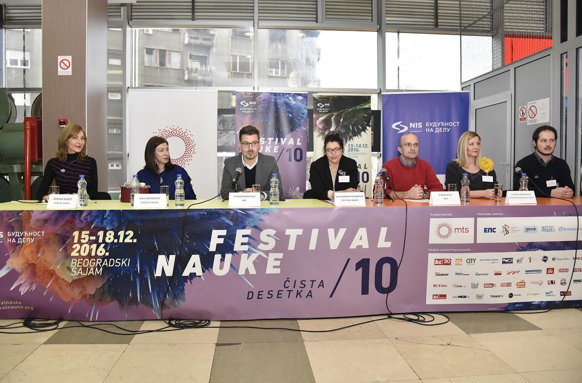 Od 15 do 18. decembra 10. Festival nauke – Naučna zabava za čistu desetku!