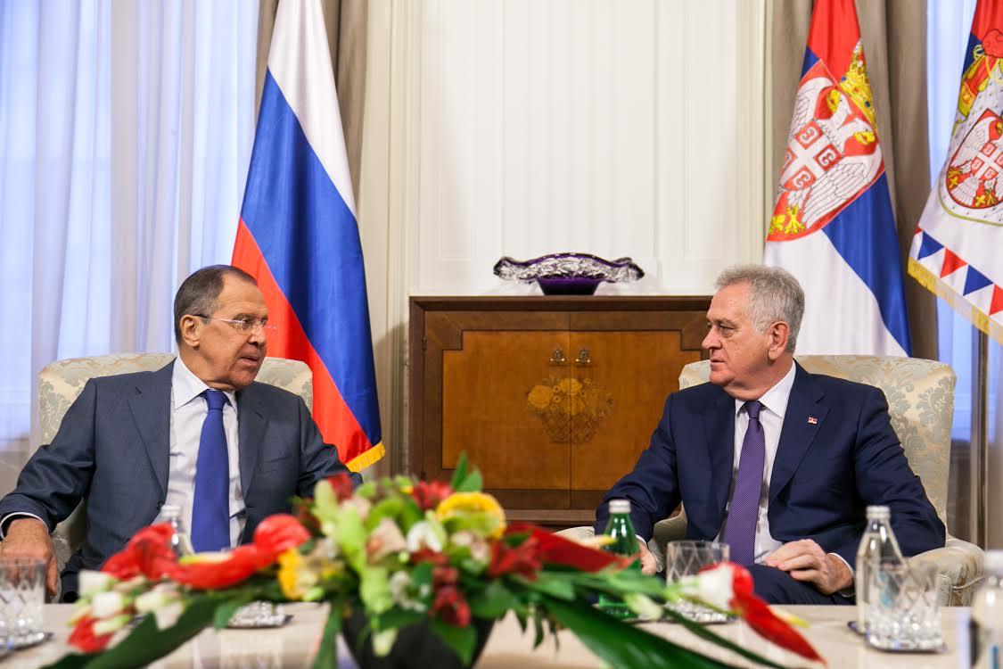 Lavrov kod  Nikolića i Vučića