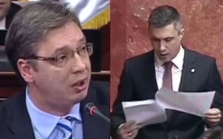 Svađa Obradovića i Vučića  napravila komediju od Skupštine