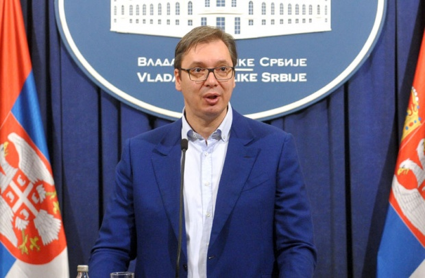 Konferencija za novinare Aleksandra Vučića: voz se vraća u Beograd