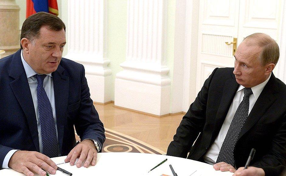 Dodik, u petak kod Putina!