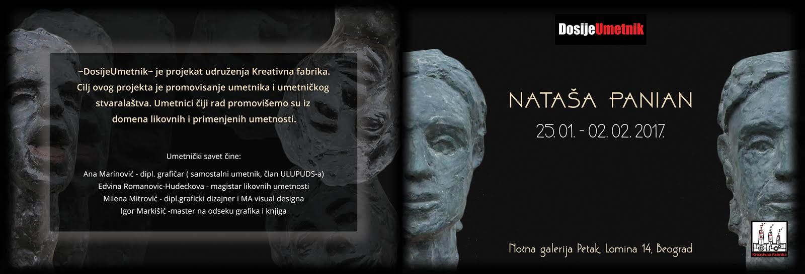 DosijeUmetnik  predstavlja skulpture Nataše Panian
