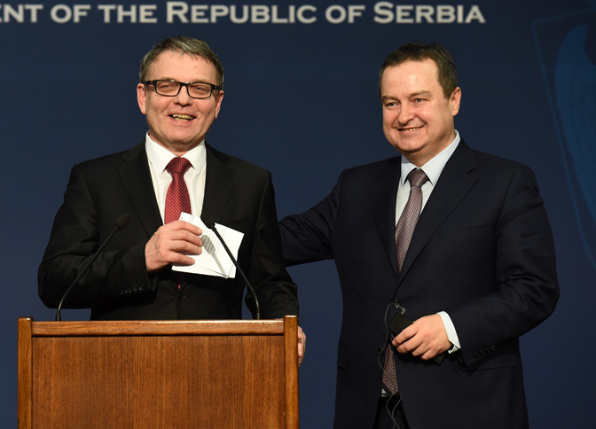 Konferencija za medije ministara Dačića i Zaoraleka