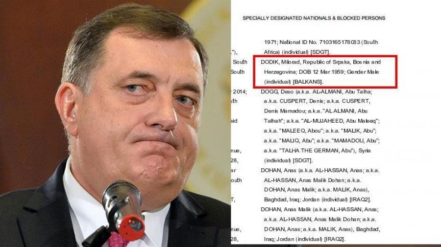 Slučaj Milorada Dodika: nova SAD administracija potvrdila sankcije!