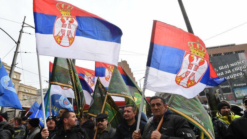 Beograd: Protest vojnog i policijskog sindikata Srbije